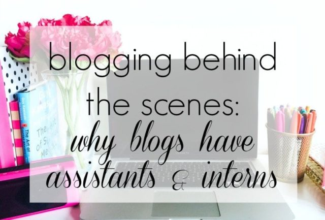 Wardrobe Oxygen - blogging behind the scenes why blogs have interns and assistants