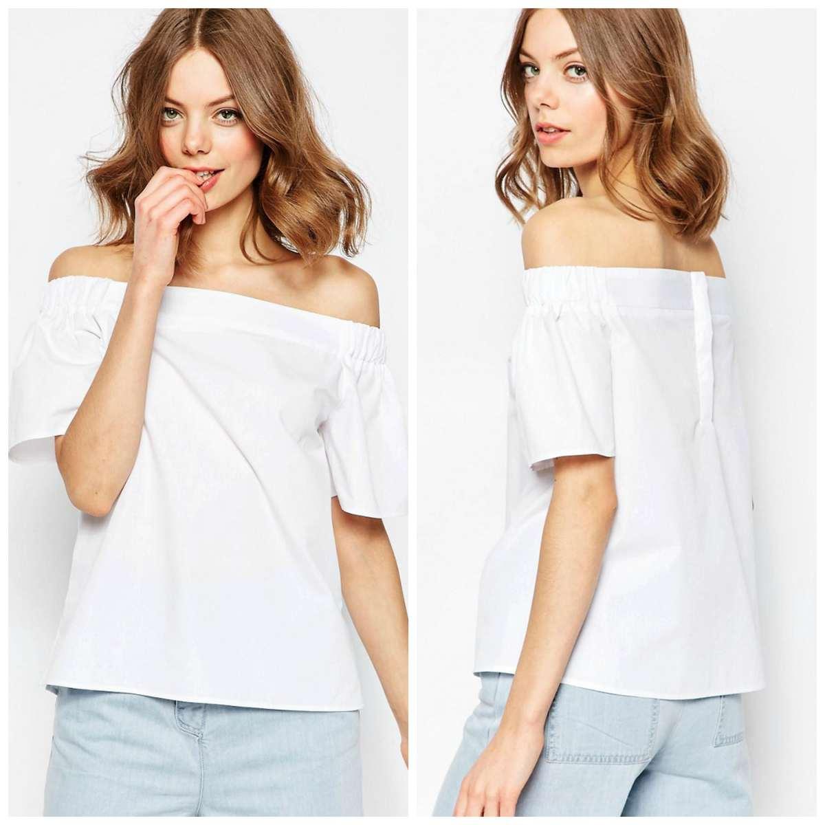 asos cotton off the shoulder top