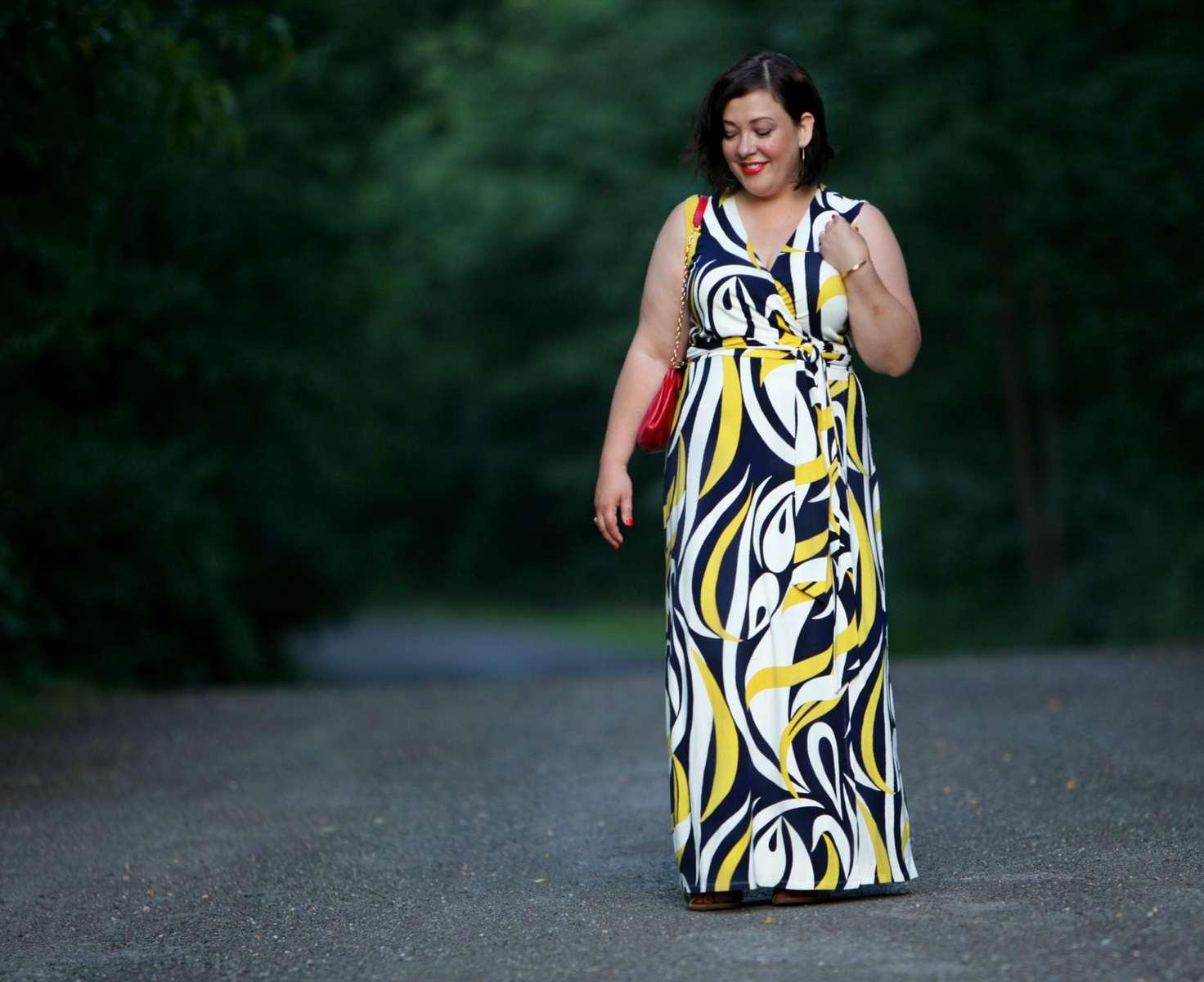 over 40 fashion blog wardrobe oxygen maxi dress boden