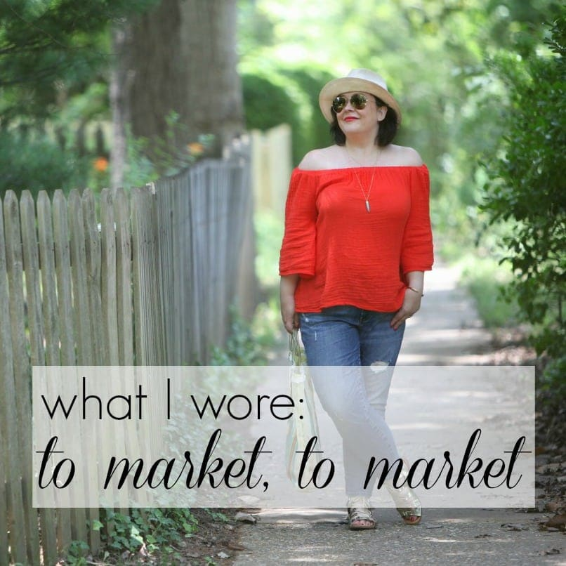 what i wore to market to market by wardrobe oxygen