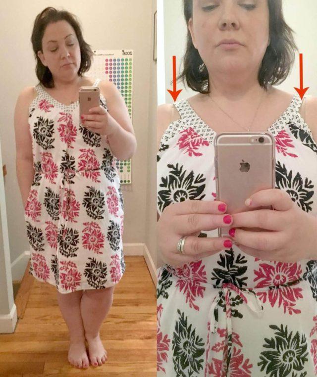 LOFT Inked V-neck Dress Review - Wardrobe Oxygen
