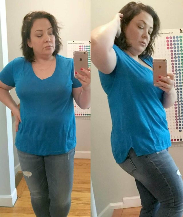 Lou and Grey Linen V-neck tee review