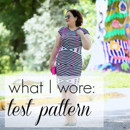 What I Wore: Test Pattern Wardrobe Oxygen What I Wore Test Pattern featuring Gwynnie Bee