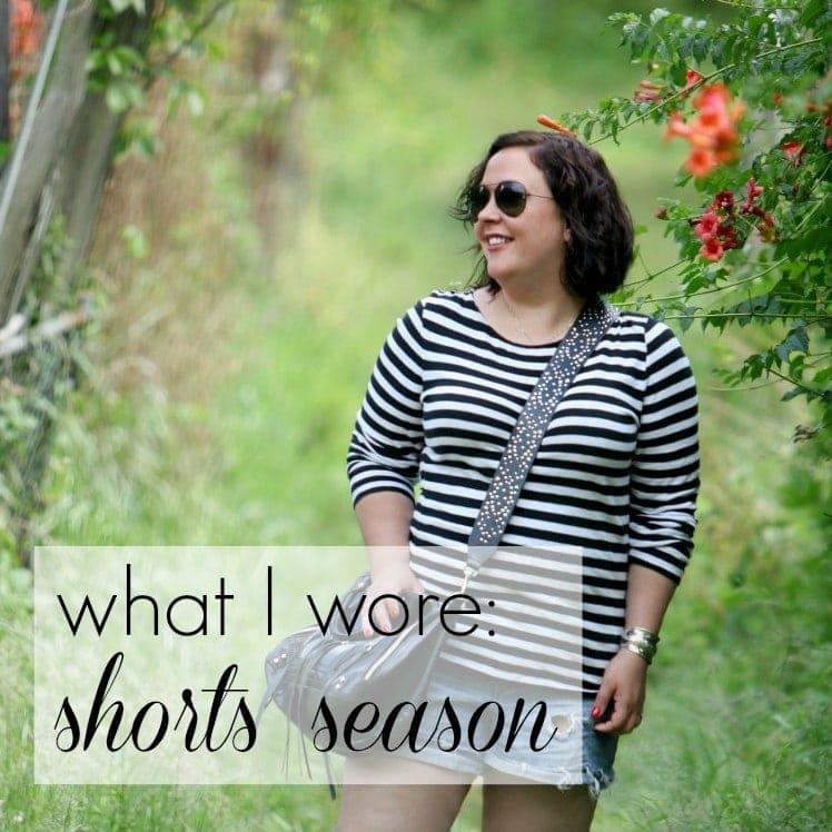Wardrobe Oxygen what I wore - shorts season