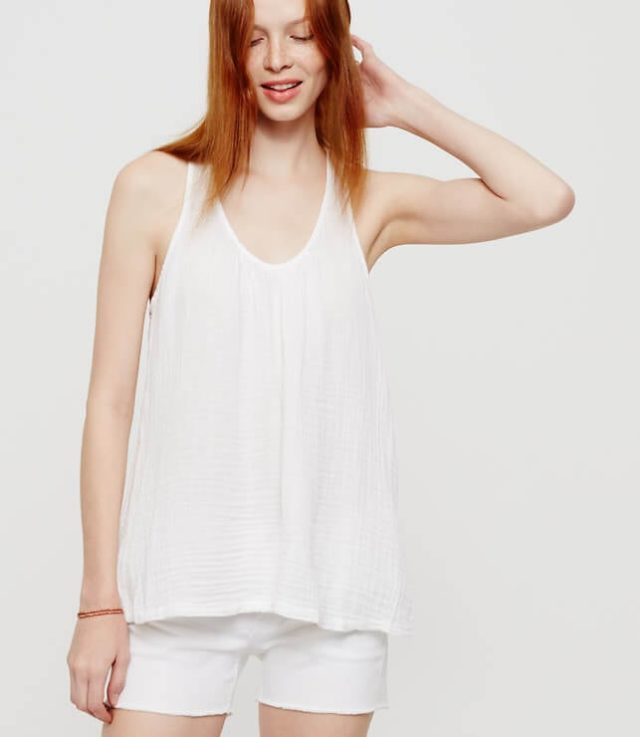 lou and grey crinkle linen tank