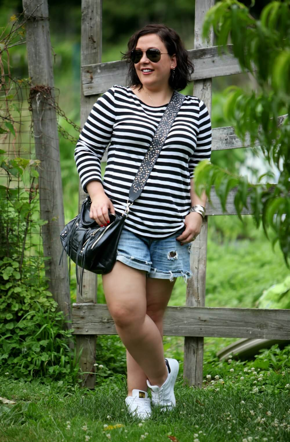 over 40 fashion blog wardrobe oxygen in a casual weekend look featuring Rebecca Minkoff and J Crew