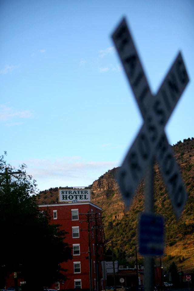Durango Colorado view of the Strater Hotel