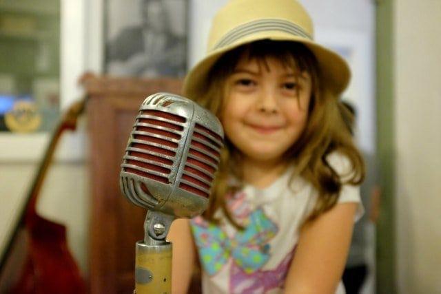 Emerson with Elvis Microphone Sun Studio Memphis