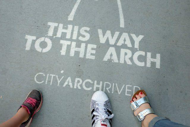 This Way to the Arch Sidewalk St. Louis Missouri