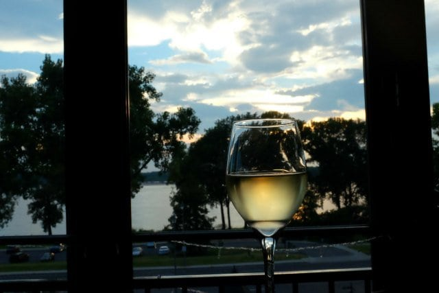 View from The Terrace at River Inn Memphis