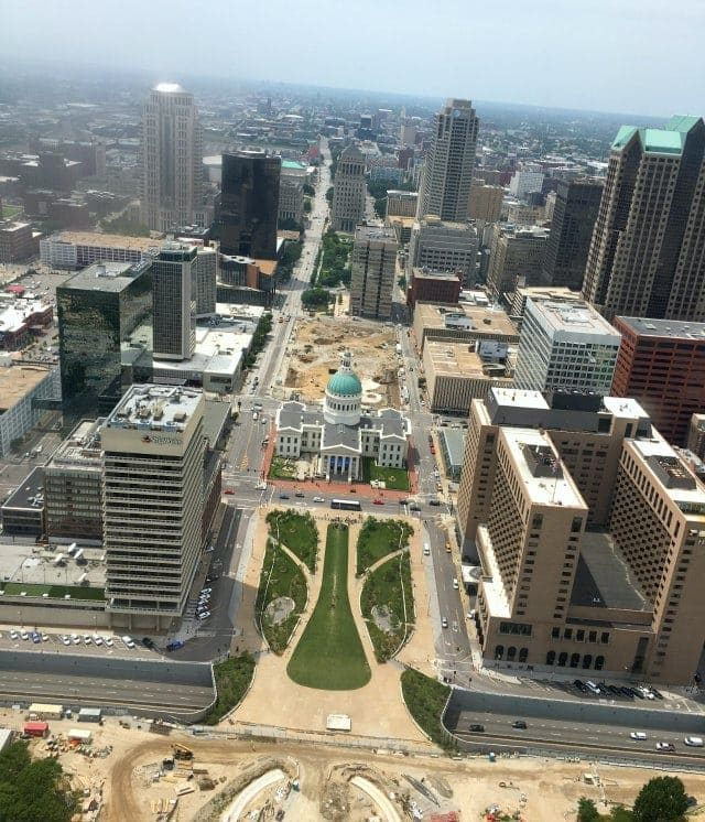 View of St. Louis from the top of the Gateway Arch - Wardrobe Oxygen