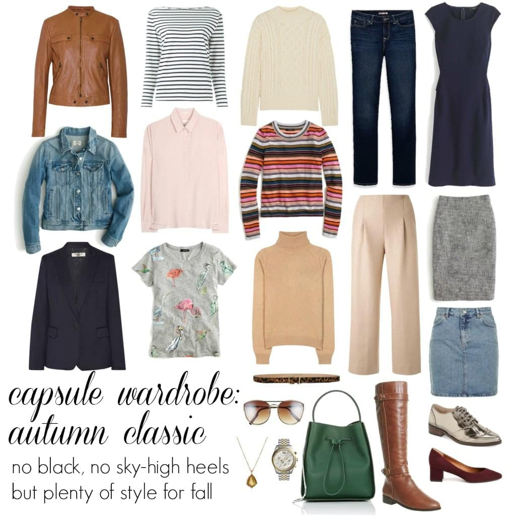 Wardrobe Oxygen - Capsule Wardrobe for fall with comfortable shoes and no black - autumn classic