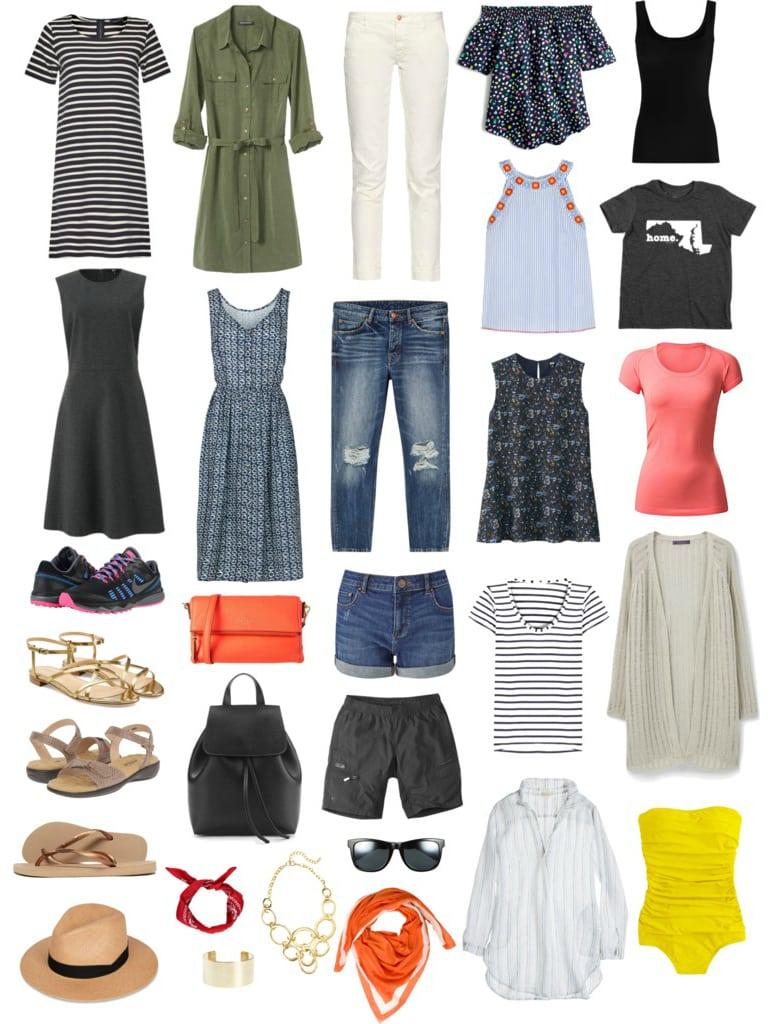 Wardrobe Oxygen - Capsule Wardrobe for two week cross country road trip