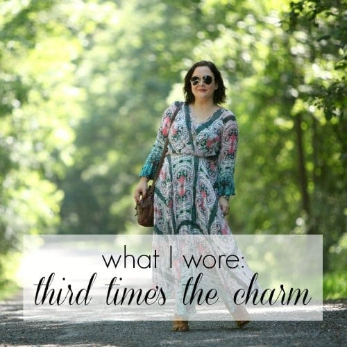 Wardrobe Oxygen What I Wore - Third Times the Charm