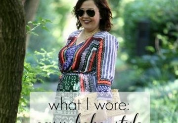 What I Wore: Easy Boho Style