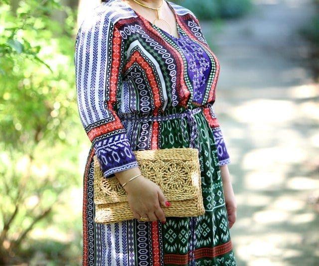 Wardrobe Oxygen in an Hemant & Nandita for Gwynnie Bee maxi dress