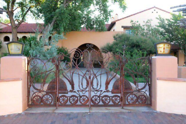 back gate to La Posada Hotel Winslow