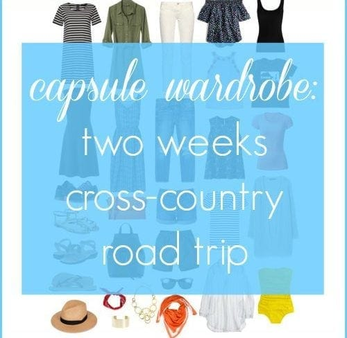capsule wardrobe two weeks cross country road trip by wardrobe oxygen