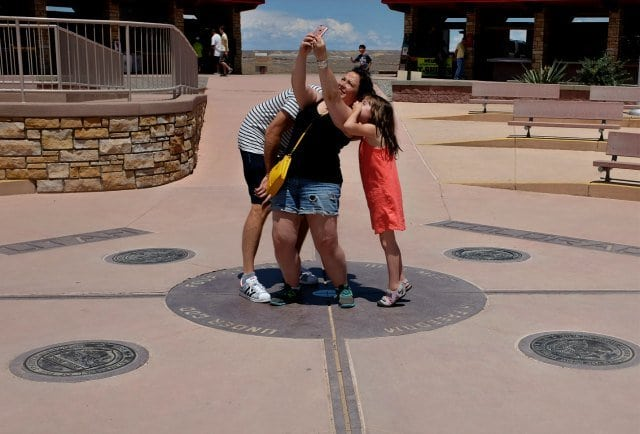 gary family selfie at four corners monument