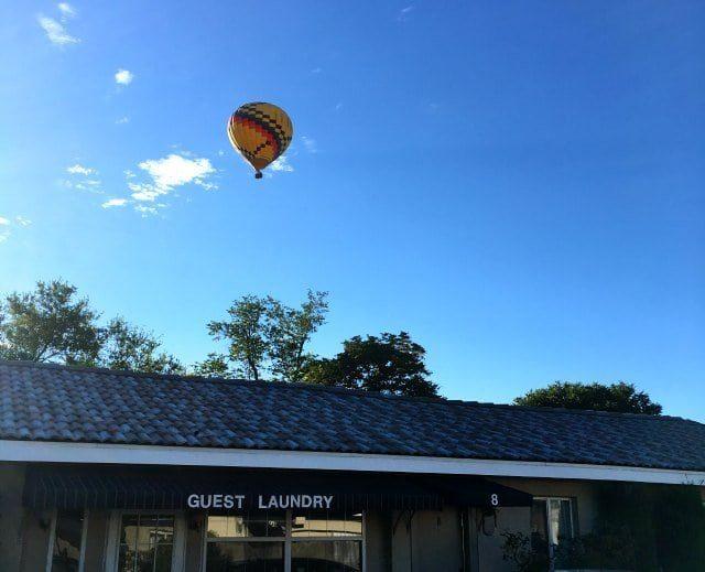 hot air balloon over monterey non smoker motel albuquerque