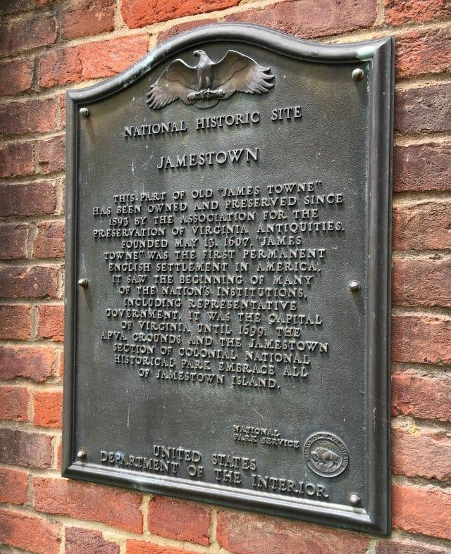 jamestown historic site