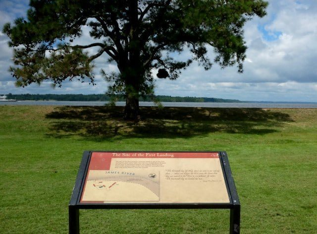 the site of the first landing jamestown virginia