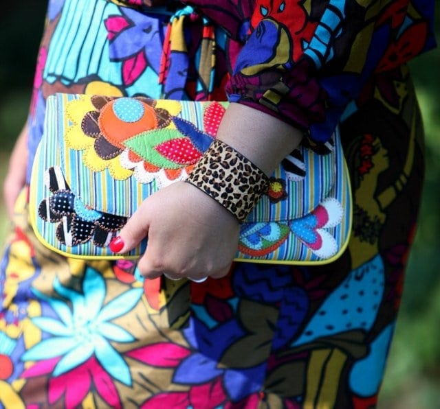 wardrobe oxygen with a leopard haircalf cuff and novica clutch