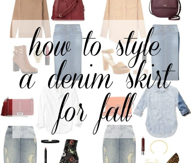how-to-style-a-denim-skirt-this-fall-wardrobe-oxygen how to wear denim skirt fall