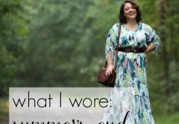 What I Wore: Summer's End