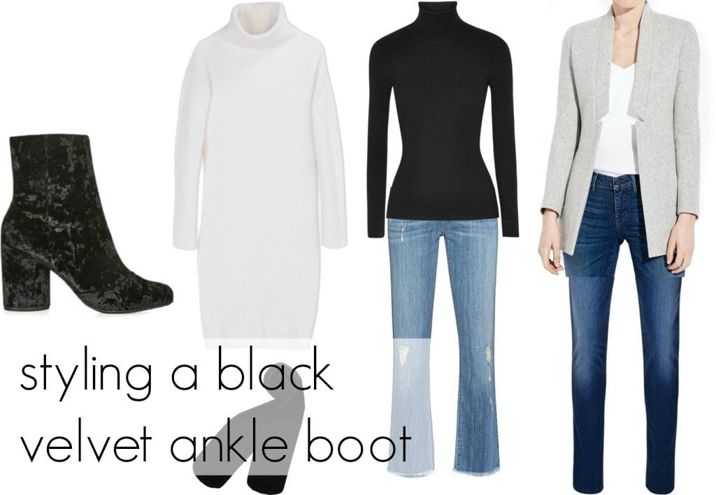 How to style a black velvet ankle boot three ways - wardrobe oxygen