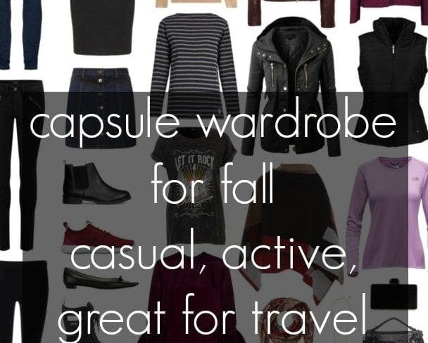 Wardrobe Oxygen: A capsule wardrobe for fall with a focus on casual, active, and travel