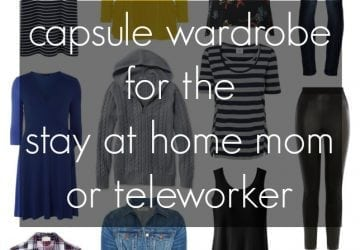 Stay at Home Capsule Wardrobe for Fall and Winter