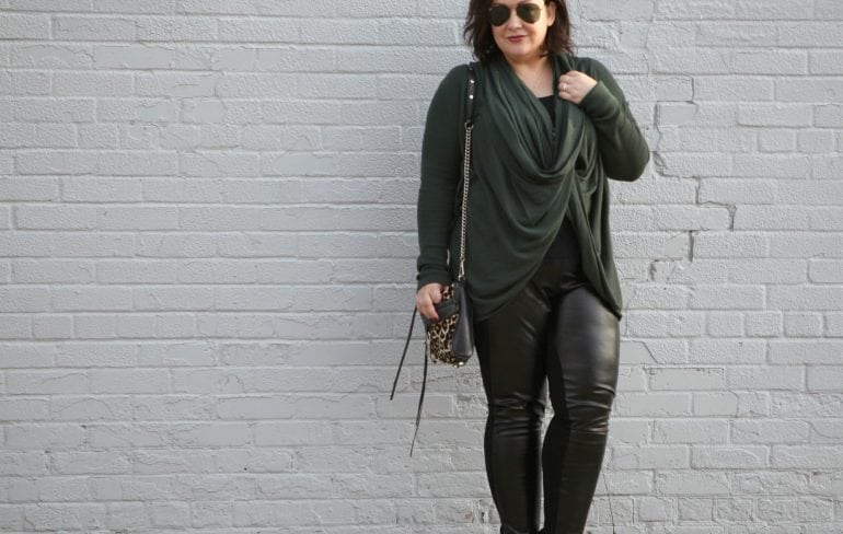 Nordstrom Convertible Wrap Cardigan on Wardrobe Oxygen What I Wore: Two in One