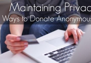 Ask Allie: Ways to Donate Anonymously