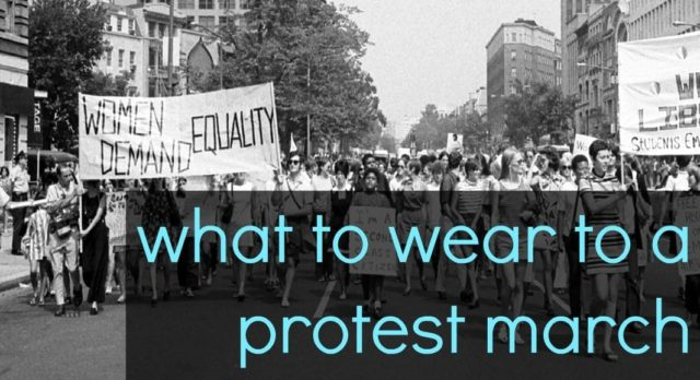 What to Wear to a Protest March featured by popular Washington DC petite fashion blogger, Wardrobe Oxygen
