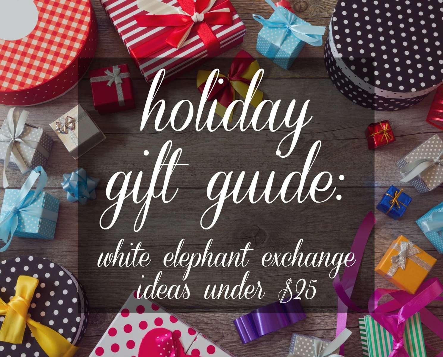 Holiday Gift Guide White Elephant Ideas Wardrobe Oxygen