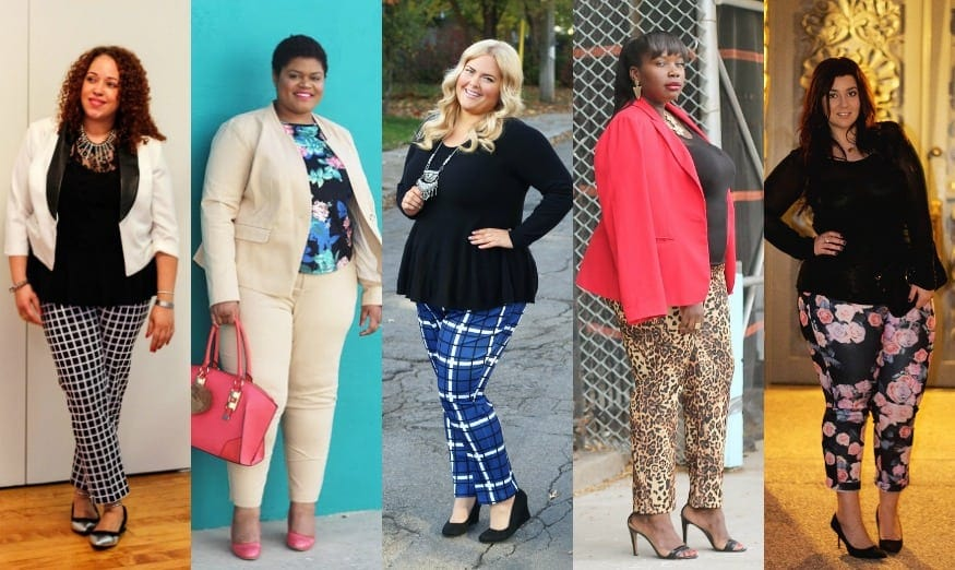 plus size bloggers wearing the ELOQUII Kady pant curvy ankle pants