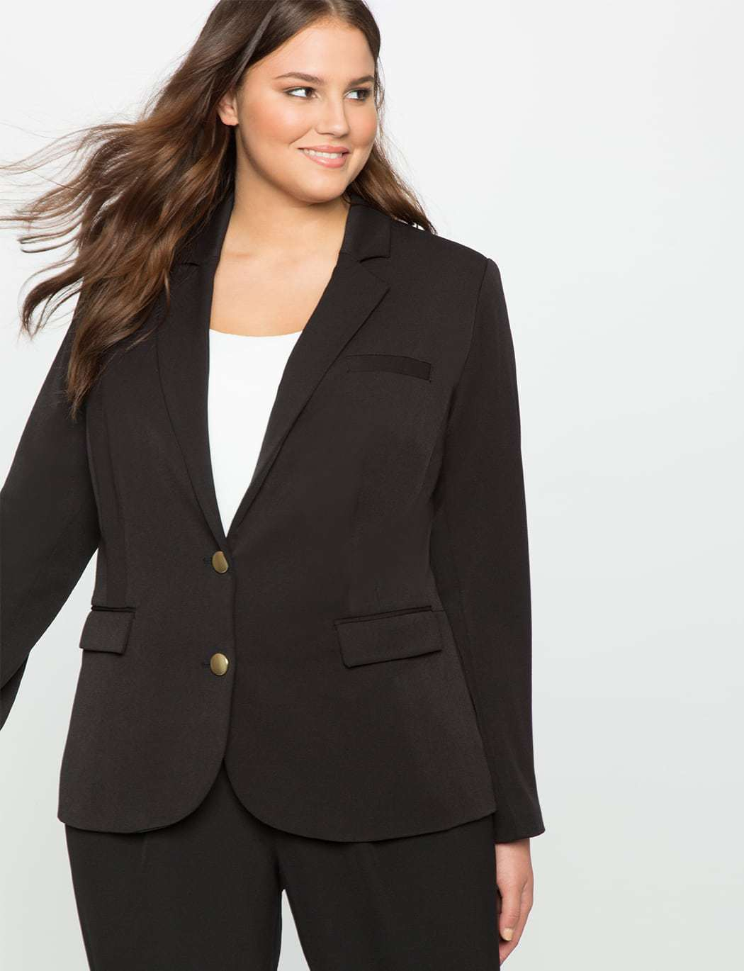 ELOQUII Double Button Jacket Review by Wardrobe Oxygen