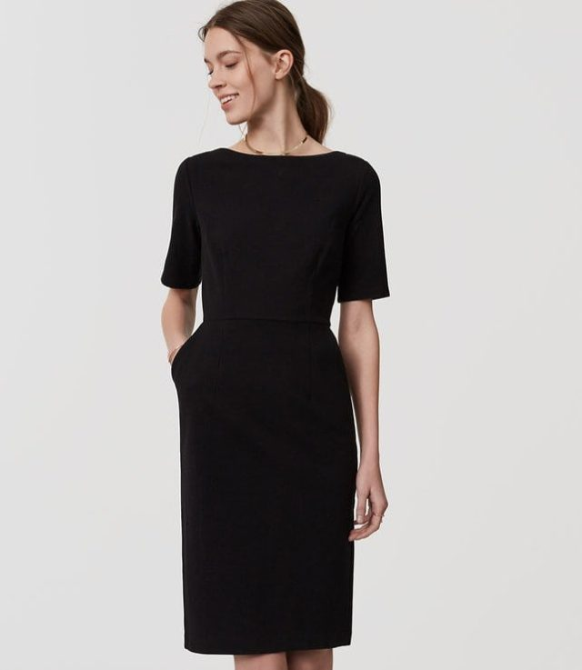 LOFT Short Sleeve Sheath Dress