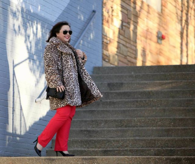 Wardrobe Oxygen, over 40 fashion blogger in Nordstrom Collection cashmere sweater, Banana Republic Ryan pants, Rebecca Minkoff Bag, and Baublebar necklace