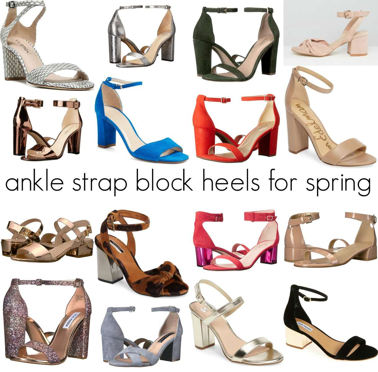 Ankle Strap Block Heels for Spring and Summer - Wardrobe Oxygen