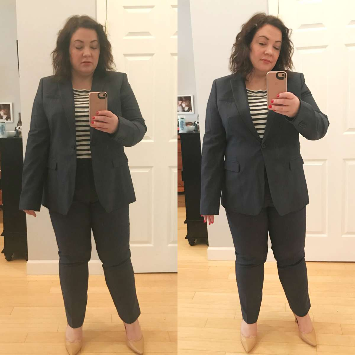 Banana Republic Navy Suiting 2017 Spring Review - Wardrobe Oxygen