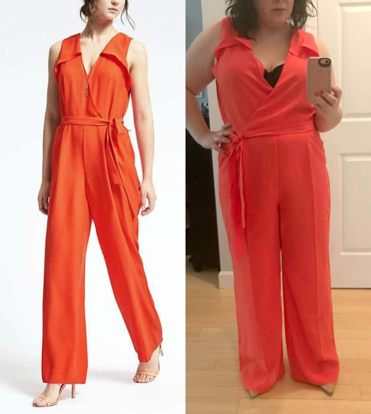 Banana Republic Red Jumpsuit Spring 2017 Review