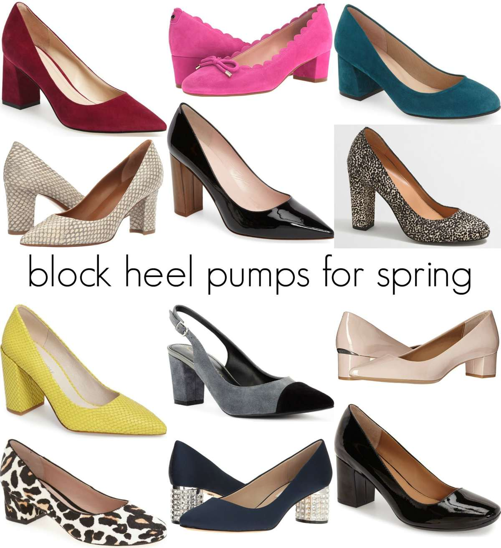 Block Heels Pumps for Spring - Wardrobe Oxygen