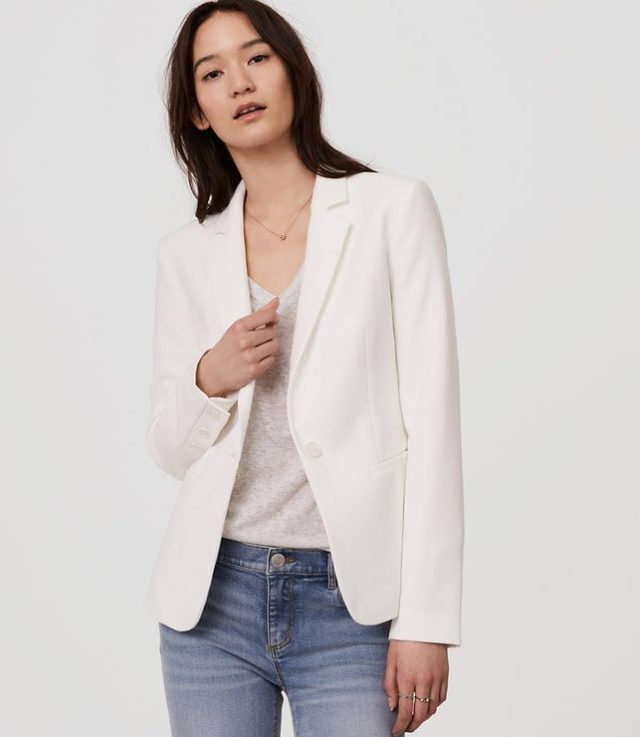 LOFT Single Button Blazer