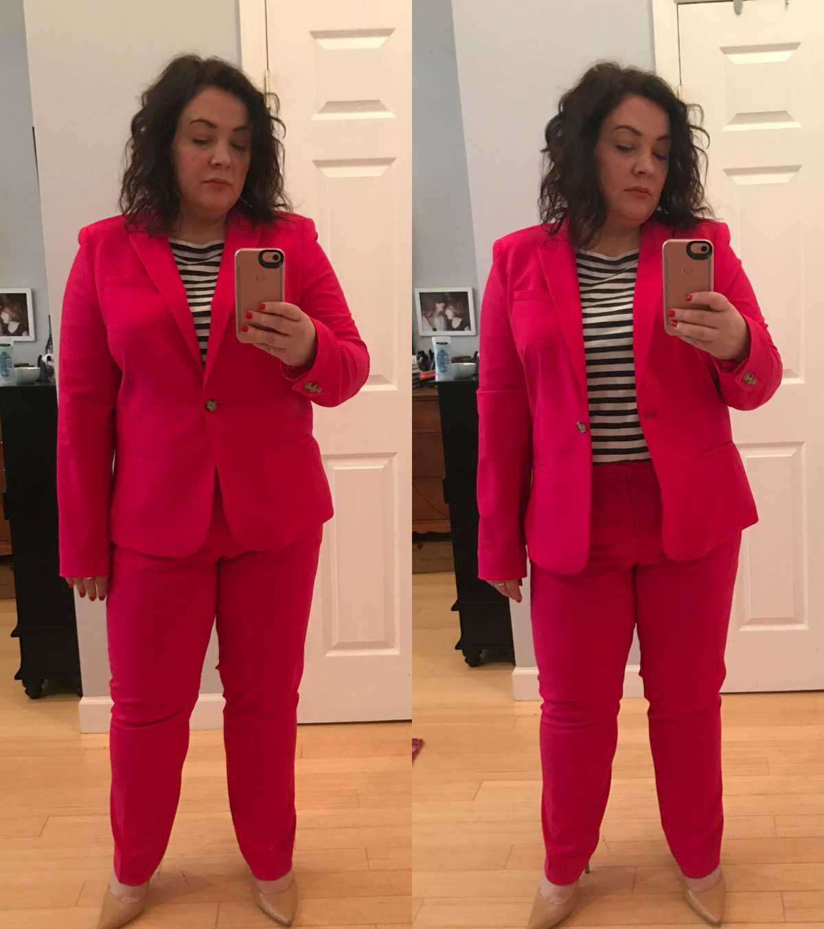 Wardrobe Oxygen - Banana Republic Pink Pantsuit Review