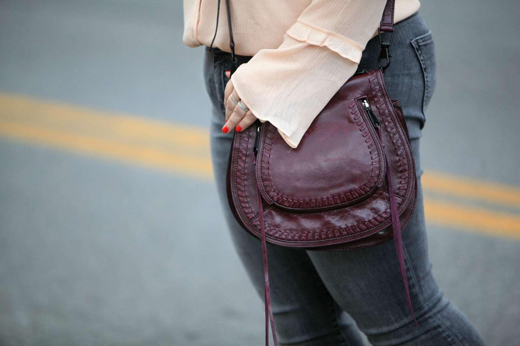 Wardrobe Oxygen with the Rebecca Minkoff Vanity bag in Oxblood