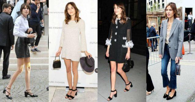 The block heel shoe trend seen on Alexa Chung
