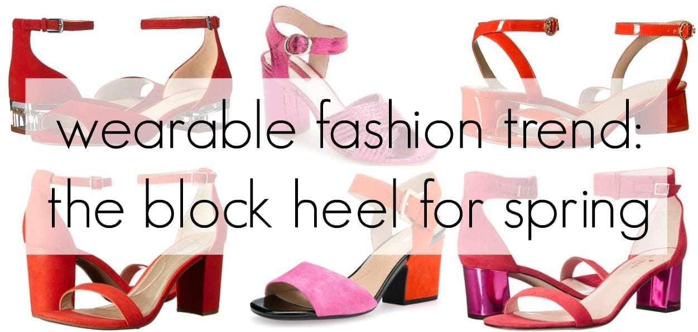 block heel shoe trend for spring