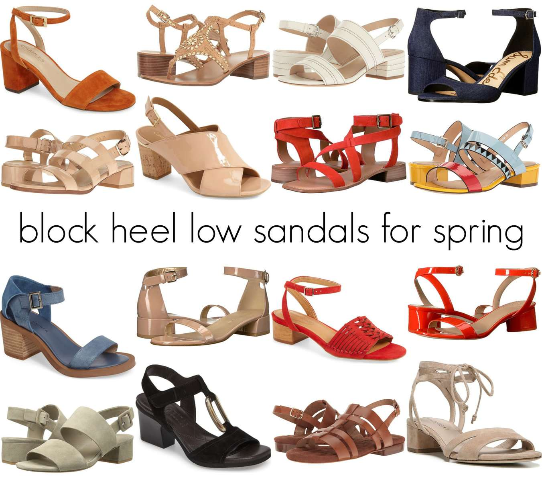 comfortable low block heel sandals for spring and summer - wardrobe oxygen